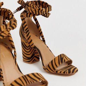ASOS Shoes - ASOS Tiger Print Heels